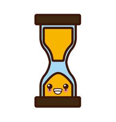 hourglass sandtime isolated cute kawaii cartoon vector image