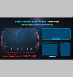 hud uiux gui futuristic user interface screen vector image
