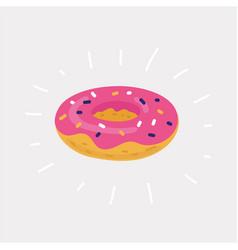 Inflatable circle donuts vector
