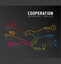 infographic report template - cooperation vector image