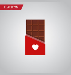 isolated bitter flat icon chocolate vector image