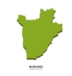Isometric map of Burundi detailed vector image