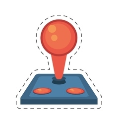 Joystick controller retro game icon vector