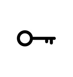 key icon in flat style secret symbol vector image