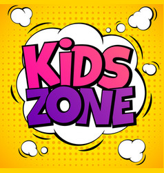 Kids zone child game playground labels with vector