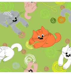 kittens seamless pattern vector image
