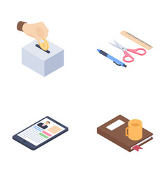 Learning and education icons vector
