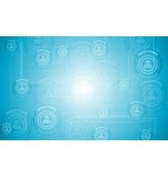 Light blue hi-tech background vector