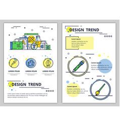 line art design trend poster banner vector image