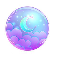 Magic crystal ball isolated on white creepy cute vector