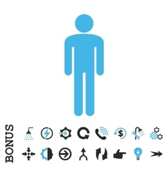 Man Flat Icon With Bonus vector image