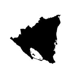 map nicaragua isolated black vector image