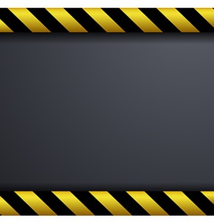 Metal warning background vector image