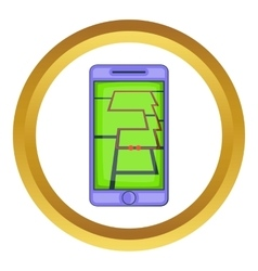 Mobile phone with sport app icon vector