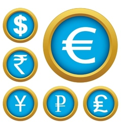 Money set buttons vector image
