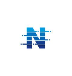 n letter pixel logo icon design vector image