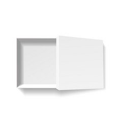 open white pack box empty cardboard container vector image