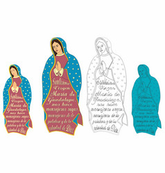 Our lady guadalupe and excerpt from prayer vector