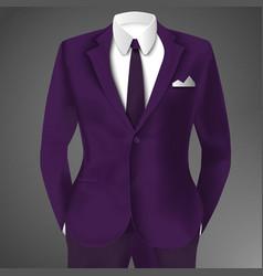 purple business suit template vector image