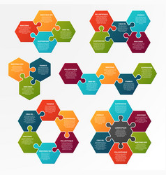 puzzle infographic optional process workflow vector image
