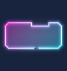 realistic glowing shape neon square frame isolated vector image