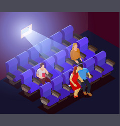 Romantic dating in cinema vector