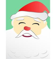 Santa Claus portrait with copy space on beard vector