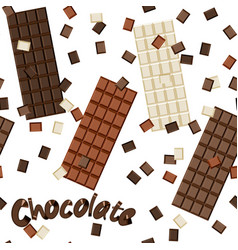 seamless chocolate background vector image