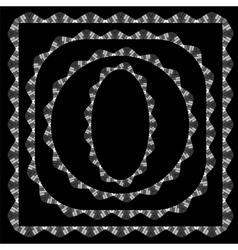 Set of Different Grey Frame vector