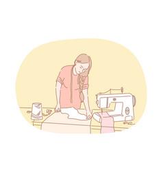 sewing dressmaking atelier designer concept vector image