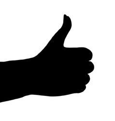 silhouette thumbs up vector image
