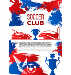 soccer sport club banner for football competition vector image