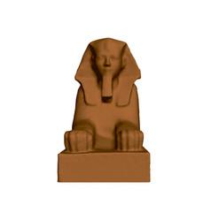 sphinx hatshepsut polygonal statue sphinx vector image