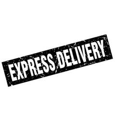 Square grunge black express delivery stamp vector