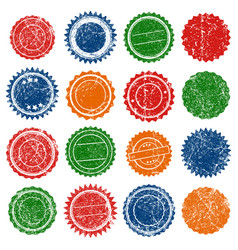 stamp shape grunge ink rubber vector image