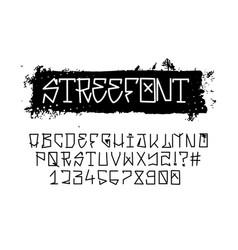 street font graffiti alphabet vector image