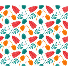 summer seamless pattern template brush vector image