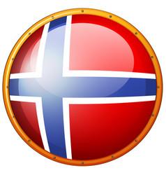 Sweden flag on round badge vector