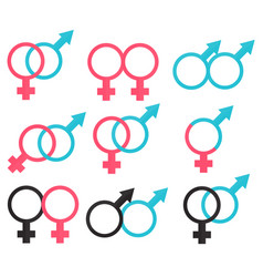 symbols relations between man and woman vector image