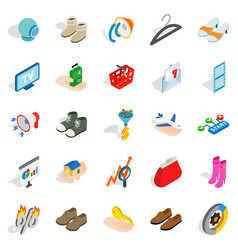 target audience icons set isometric style vector image