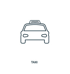 taxi icon outline style icon design ui vector image