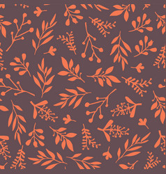 thanksgiving fall leaf seamless background vector image