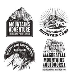 Tourism emblems labels set vector