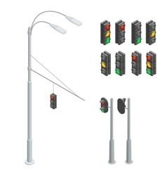 Traffic light traffic light icons set traffic vector