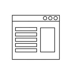 website page symbol vector image