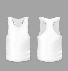 White tank top t-shirt model vector