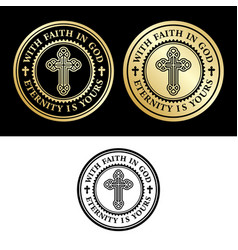 with faith in god vector image