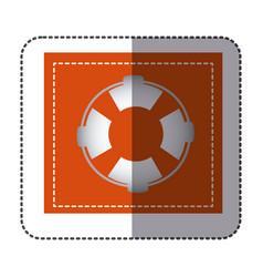 Color sticker frame with flotation hoop vector