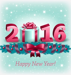 New Year 2016 and christmas decoration vector image