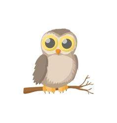 Owl icon cartoon style vector image